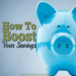How To Boost Your Savings Account {And End Financial Fragility}