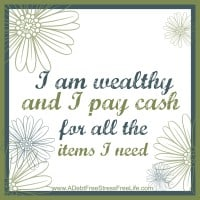 I am wealthy and I pay cash for all the items I need.