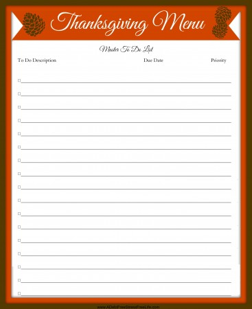 Plan your best Thanksgiving with these free printables that will have you super organized and on budget!