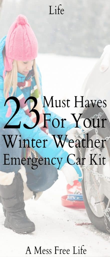 Everything you'll need to ensure your safety and survival is included in the winter weather emergency car kit. | Checklist | Food | Printables | DIY