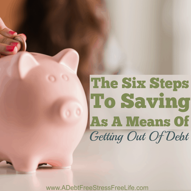 Savings as a means of getting out of debt? Confused? You won't be after you read why these six steps to savings as a means of getting out of debt, will have you out of debt and on the road to financial stability.