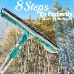 Nothing says spring cleaning like washing windows. It's time to get the grime off before you open up those windows and welcome spring into your home. This 8 step process will have your friends thinking you used a professional. Plus you get a free checklist too!