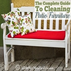 Take your patio furniture from grungy to sparkling with tips in our complete guide for cleaning patio furniture no matter what it's made of~