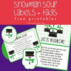 Snowman Soup Labels and Tags – 100 Days of Debt Free Holiday Ideas