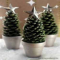 Pine Cone Christmas Trees – 100 Days of DIY Holiday  Ideas
