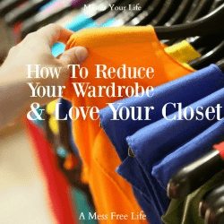reduce your wardrobe