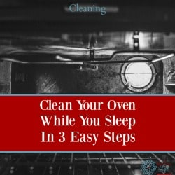 3 Easy Steps to Clean Your Oven While You Sleep