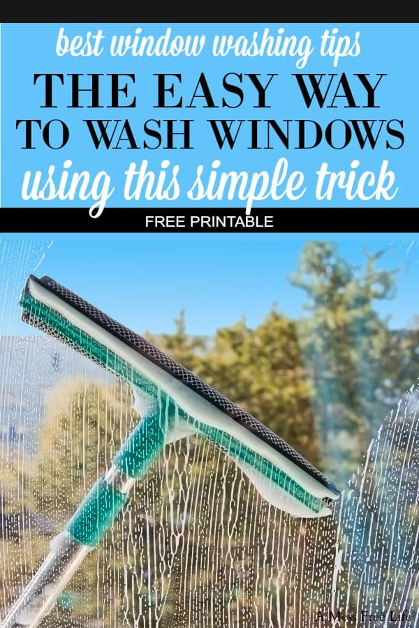 Nothing says spring cleaning like washing windows. Learn how to clean your windows just like the pros!  My simple window cleaning solution will give sparkling windows without streaks.  It's time to get the grime off before you open up those windows and welcome spring into your home. Whether you're cleaning exterior or indoor windows this 8 step process will have your friends thinking you used a professional. Plus you get a free checklist too! #cleaningwindows #cleanwindowswithoutstreaks #howtocleanwindows #deepcleaninghouse